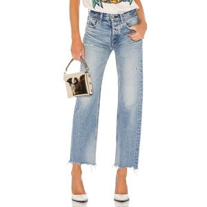 Moussy Vintage Lomita Wide Leg Straight 24